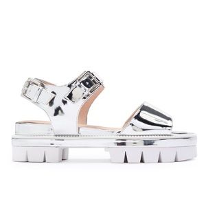 Free People Shoes - Metallic silver platform sandals Shellys London